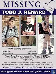 Todd Renard Missing in BellinghamWA
